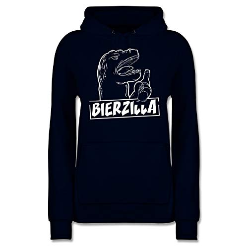 Shirtracer Halloween - Bierzilla - XS - Navy Blau - JH001F - Damen Hoodie