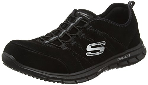 Skechers Damen Glider Sneakers Schwarz (BBK) 35 EU - Leder Glider