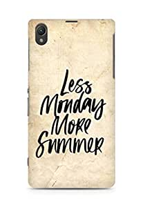 AMEZ less monday more summer Back Cover For Sony Xperia Z1 C6902