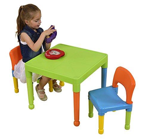 Liberty House Toys Ensemble table et 2chaises pour enfants, en plastique, multicolore