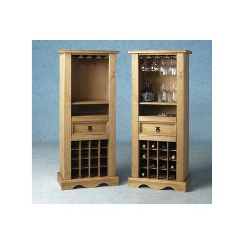 Pine Wine Rack Solid Mexican Pine Shelving Storage Cabinet Corona *Brand New*