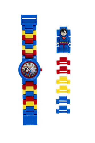 Reloj infantil modificable con figurita de Supermán de LEGO DC Comics 8020257 Super Heroes