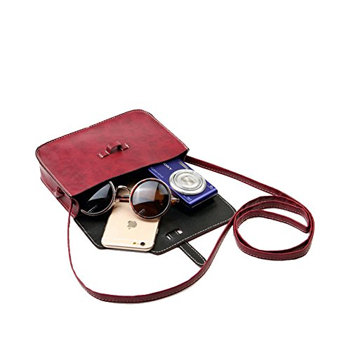 Daojian Epaule Mini Cross Body Bags message Sac Structured Cellphone Pouch noir