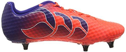 Canterbury Speed Elite 6 Stud, Chaussures de Football Homme Rouge (X20 Firecracker)