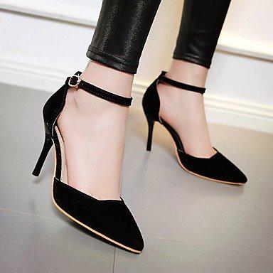 Da donna-Tacchi-Matrimonio Casual Serata e festa-Cinturino alla caviglia Comoda-A stiletto-Felpato-Nero Rosso Beige Black