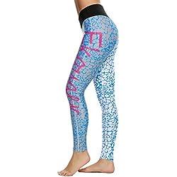 Leggings Leggins de Estrellas Colores Estampados Push up Pantalones Elásticos Deportivos para Mujer