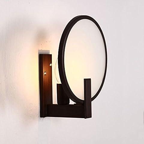 KMDJ semplice ferro tondo Vintage Dresser Luci specchietto Creative posti letto Camera da Letto Lampade da parete corridoio balcone candelabri a muro