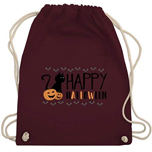 Halloween - Happy Halloween - Unisize - Bordeauxrot - WM110 - Turnbeutel & Gym Bag (Halloween Witze Happy)