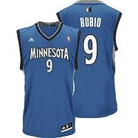 Ricky Rubio Adidas NBA Minnesota Timberwolves Revolution Replica Jersey - Blue