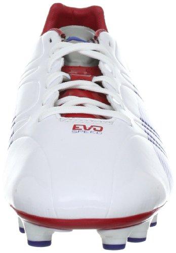 Puma evoSPEED 3 FG 102578 Herren Sportschuhe - Fußball Weiss (white-limoges-ribbon red 01)
