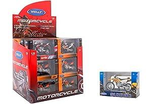 GLOBO, 1 18 Licensed Asst Cross Motorbikes 24 Piezas/D-Box (38512), Modelos Surtidos, Unidad, Multicolor
