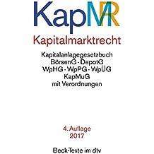 Kapitalmarktrecht (dtv Beck Texte)