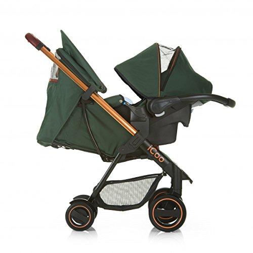 iCoo Acrobat Shop'n Drive - Silla de paseo, color verde y cobre