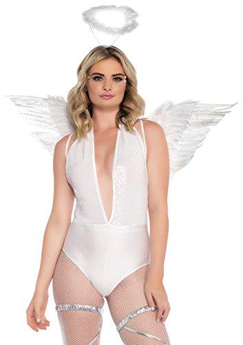 c. Engel-Set, weiß, Damen Karneval Kostüm Fasching (Himmel Kostüme)