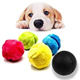Jamisonme Magic Roller Ball Toy - Roller Dog Pet Toy per la Pulizia di casa e Animali Giocattoli (1 Rolling Ball + 4 Colori Ball Cover)