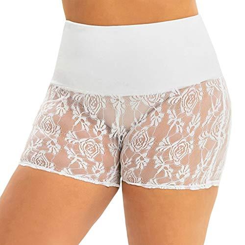 Toamen da Donna Cotone Ghette A Vita Alta Allenarsi Yoga in Esecuzione Compressione Pantaloncini Pancia Controllo Lato Attivo Sport Casuale Pantaloni(Bianca 2,2XL)