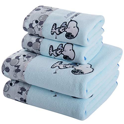CXBHB Mikrofaser-Badetuch und Handtuch Set Dickes Geschenk Strandtuch 1 Stück, Blue Snoopy, 70 * 140