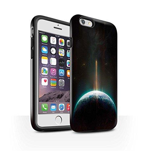 Offiziell Chris Cold Hülle / Glanz Harten Stoßfest Case für Apple iPhone 6S / Pack 6pcs Muster / Galaktische Welt Kollektion Phönix/Raumzeit