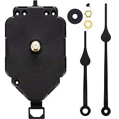 Idea Regalo - Movimento dell'Orologio a Pendolo per Albero Lungo di Ricambio Meccanismo di Movimento dell'Orologio al Quarzo