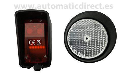 Universal Lichtschranke Reflektor Infra-rot mit Blue Bus System Kompatibel mit Liftmaster und Marantec