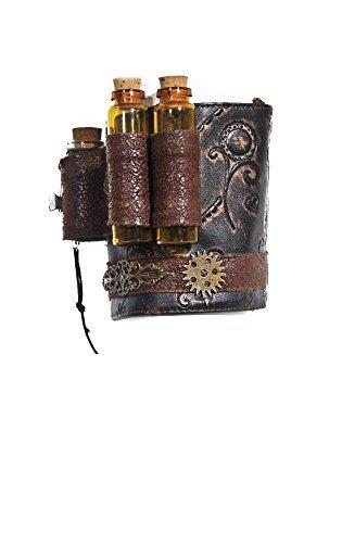 Steampunk Oberarm-Schmuck mit Elexier-Fläschchen Armschmuck Armband Vintage RQ-BL