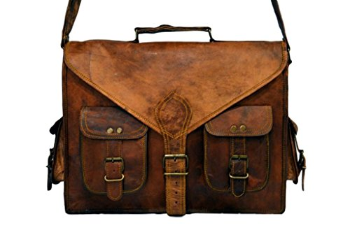 "Messenger of Leather , Borsa Messenger  marrone Brown 11"" x 15"" x 3.5"" Brown"