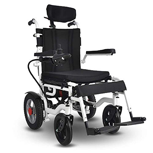 MZLJL Electric Wheelchair,Modern 360° Intelligent Joystick Hand Push/Electric Durable Folding Outdoor Elderly Disabled Four-Wheeled Electric Wheelchair Seat Width 40Cm - Electric Power Stuhl