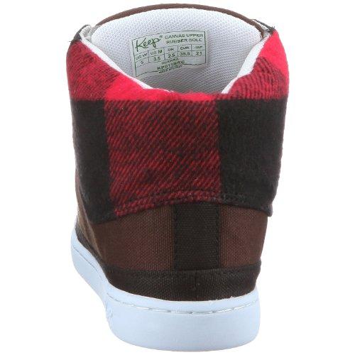 Keep KP011 SD10 Guerra, Baskets mode mixte adulte Damier noir et rouge