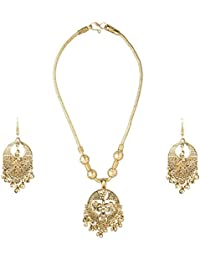 Shining Jewel 18K Antique Gold Necklace Set For Women (SJ_2314)
