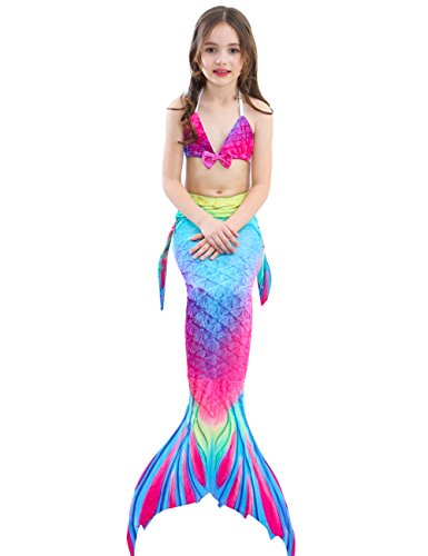 6f4c49815320 2XDEALS Costumi da Bagno Sirena Bambina Coda di Sirena per Nuotare ...
