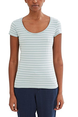 Grüne Damen Light T-shirt (edc by ESPRIT Damen T-Shirt 047CC1K056, , , , , Gr. 38 (Herstellergröße: M), Grün (LIGHT AQUA GREEN 390))