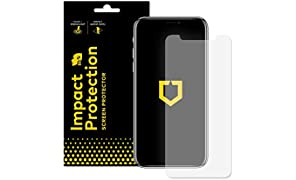RhinoShield Screen Protector for iPhone X [Impact Protection] | High Strength Impact Damping/Dispersion Technology - Clear and Scratch/Fingerprint Resistant Protection