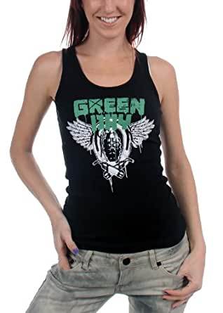 Green Day - - Handgrenades Girlie Tank in schwarz, Large, Black