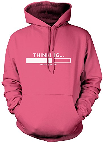 HotScamp Thinking Please Be Patient - Funny Slogan - Unisex Hoodie