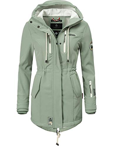 Marikoo Mountain Damen Softshell-Jacke Outdoorjacke Zimtzicke Mint Gr. S