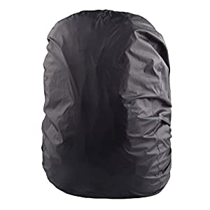 41UU8jcDV1L. SS300  - LUOEM Cycling Rainproof Backpack Cover Waterproof Backpack Rain Cover for Outdoor Travel Hiking (Black)
