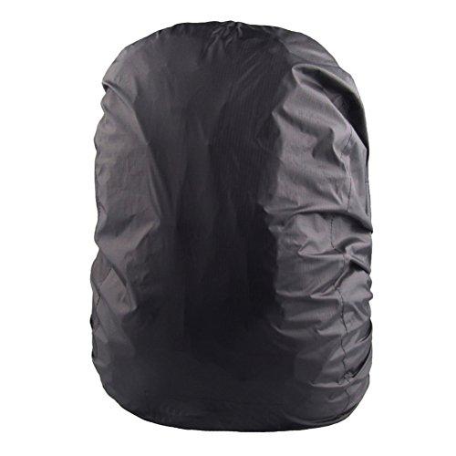 UEETEK Wasserdichte Rucksack-Abdeckungs-Tasche Regenproof Rucksack-Abdeckung für das Kampieren, das Reisen läuft Schwarz (Rucksack Abdeckung Für Flugreisen)