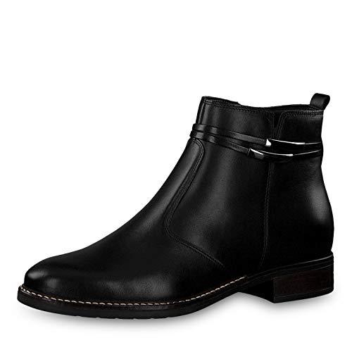 Tamaris Damen Stiefeletten 25008-23, Frauen Ankle Boots, Woman Freizeit leger Stiefel halbstiefel Stiefelette Bootie knöchelhoch,Black,40 EU / 6.5 UK