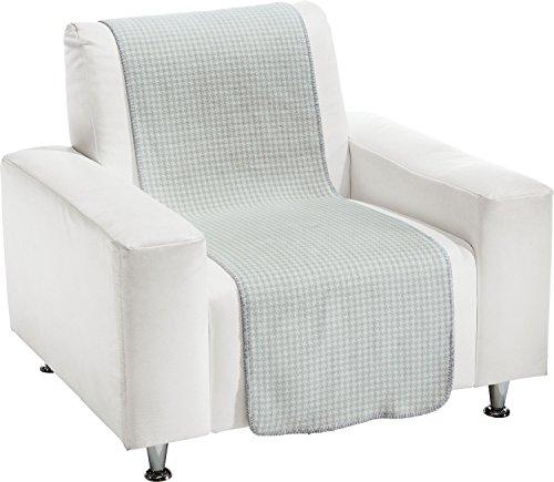 biederlack Sessel- und Sofaschoner Baumwollmischung Natur/grau Größe 100x200 cm