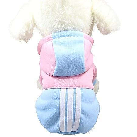KariNao HundeKleidung Pet Mantel für Chihuahua Kleine Hunde warme Jacke Welpen Outfits Katzen Bekleidung(Himmelblau,XS)