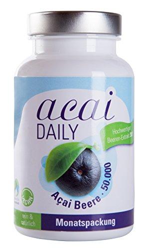 Acai DAILY 50.000mg – Höchstdosierte Premium Qualität auch für Veganer, Monatspackung von evitaplus