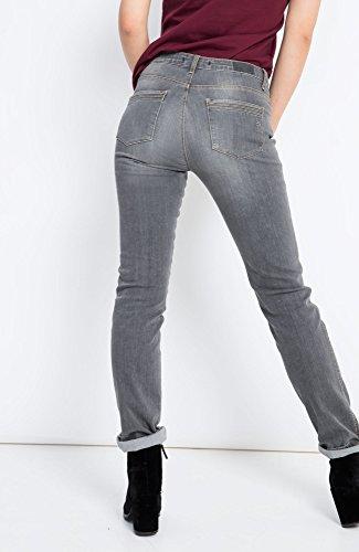 H.I.S Marilyn Jeans in Slim Fit für Damen / Dunkelgraue Denim Jeans mit enger Passform und authentischer Vintage Waschung / Damenjeans in Größe Grau (Premium Grey Wash 9953)