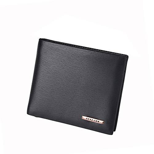 Brieftasche Tasche Kurze Geldbörse Kartenpaket Kreditkarteninhaber RFID-Brieftasche Kartenhalter Geld-Clips Brieftasche mit großer Kapazität Cross Black (Brieftaschen, Clip Geld)