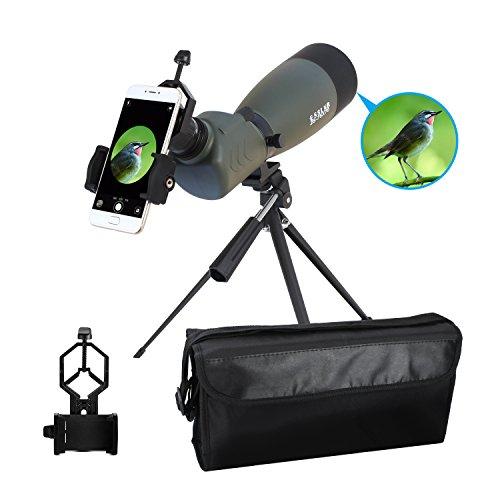 ESSLNB 25–75x 70Zoom abgewinkelt Spektiv wasserdicht BaK4-Prisma für die Jagd Archer mit Telefon Adapter, Stativ und Schutzhülle