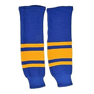 Sherwood SHER-Wood Eishockey Stutzen Team Sweden, Größe Junior/JR, blau-gelb, Stutzen Eishockey Nationalmannschaft Schweden