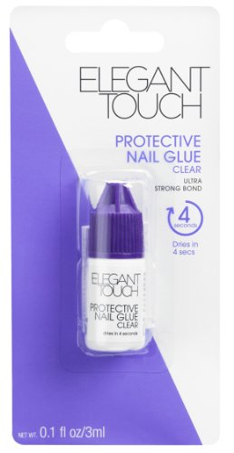 Elegant Touch Colle à ongles protectrice transparente 3 ml