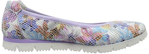 Marco Tozzi Premio 22120, Ballerines Femme Multicolore (Flower Mult. 958)