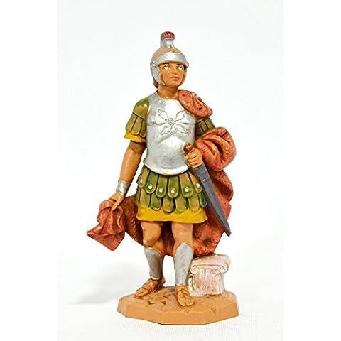 Figurine Statue Crèche Centurione avec glaive romain (159) 12cm type bois Fontanini