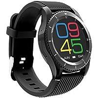 ZfgG Smart Watch Bluetooth wasserdichte Fitness Tracker neue Runde Bildschirm mehrsprachige Multi-Modus Puls Blutdrucküberwachung Karte Telefon Benachrichtigung Erinnerung Perfekter Wohnassistent
