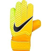 Nike GK Mtch Guantes de Portero, Unisex Niños, Negro/Naranja (Laser Orange)/Verde (Volt), 4